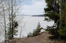 Yellowstone Lake in early spring