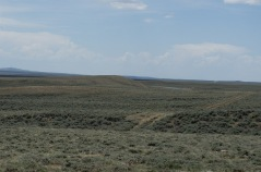 Wagon wheel ruts, Oregon Trail